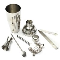 bar jiggers - Freeshipping Food Grade set ml Stainless Steel Cocktail Shaker Jigger Mixer Bar Drink set for Barware Bar Party Portable
