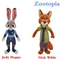best latest movies - 2016 The latest Movie Zootopia Fox Cute Plush Toys CM Stuffed Cartoon Dolls Best Gift Nick Wilde and Judy Hopps plush toys