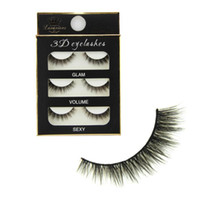 Wholesale 3 Pair Women Makeup Real Mink Thick D False Eyelashes Popular Messy Nature Eye Lashes Black Handmade Lashes Extension