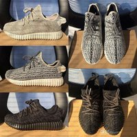 Cheap Pirate Black 2015 Authentic Original Kanye West 350 Boost Low YZY Men's Sports Running Shoes Turtle dove Moon Rock Oxford Tan shoe