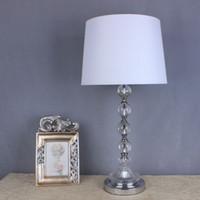 Wholesale Modern Design American rustic small table lamp bedside table lamp glass crystal diy table lamp modern lamp