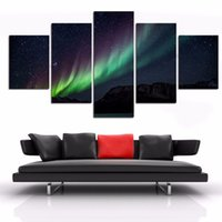 beautiful star pictures - 5 Pieces Abstract beautiful sky paintings stars HD canvas wall painting for sofa background high quality Without Frame