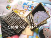 Wholesale Hot Sale Lovely Chocolate Bar Mirror Make up Mirror x55mm Mix colors For DIY docoration