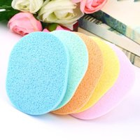 Wholesale hot pc Natural Wood Fiber Face Wash Cleansing Sponge Beauty Makeup Tools Accessories