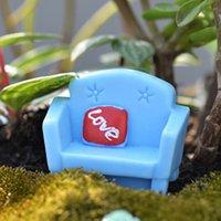arts crafts sofa - 3pcs Kawaii Sofa Statue Fairy Garden Miniatures Decor Terrarium Bonsai Tool Resin Craft Gnomes Jardim Dollhouse Home Accessories
