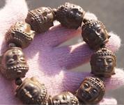 beaded sculptures - Manual sculpture red sandalwood beadle bracelet beads