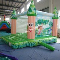 backyard playground equipment - AOQI indoor inflatable playground equipment green treeman castle bouncer with cartoon painting kid inflatable castle for sale