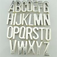 alphabet beads for bracelets - 2set Spacer Bead Pendant Alphabet Letter For mm Belt Rope Bracelet Choker