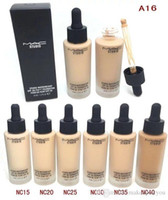 ac professional perfect - M AC Brand Unique Touch Mineral Liquid Foundation Professional Makeup Foundation Waterproof Face Concealer Skin Perfecting Liquid