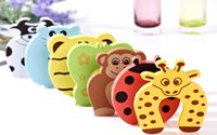 Wholesale Colors Cartoon Stop Door stopper holder lock Safety Guard Finger Protect baby Safety Animal Gates