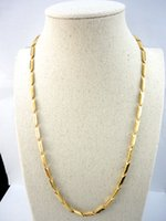 bamboo link - 22 inch Bamboo Gold Stainless Steel Chain Cm Diameter mm Never fade Necklaces For Women Fashion Jewelry LR531
