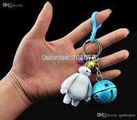 bay animation - Hot sale Cute Bay max Phone chain Creative Doll Bell Pendant Big Hero Animation Key chain