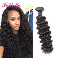 Acheter Extensions de cheveux naturels en ligne-Natural Brazilian Hair Pieces Boucles d'oreilles bouclées 3 paquets offres Deep Curly pas cher non traité brésilien cheveux brésilien en ligne