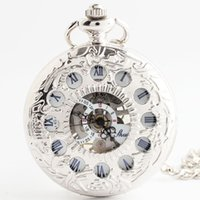 antique french pocket watches - French Romantic Impressionist fine reliefs Women Men clamshell retro mechanical pocket watch