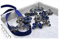asian antiquities - South Korea headdress antiquity retro bow diamond flower hairpin spring clip side clip hollow palace MR01