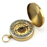 adventure watch - Luminous Brass Pocket Compass Watch restoring ancient ways plastic key chain outdoor camping hiking adventure beidou navigation tools
