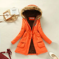 bamboo weaving - 2016 Hot Sale Autumn Winter Women Coat Slim Warm Jacket Manteau Femme Long Jacket Hooded Cotton Coats