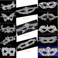 Wholesale New Sexy Halloween Masquerade Venetian Party Half Face White Lace Mask Woman Lady Sexy Mask For Christmas Disco