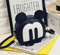 Wholesale New Mickey messenger Korean girls fashion shoulder bag lady diagonal bag simple school bags children cute carton bag