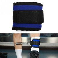 ankle strap cable - Sports Ankle Anchor Strap D ring Multi Gym Cable Attachment Thigh Leg Pulley Strap Lifting Fitness Strap Black Blue