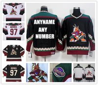 Wholesale 2016 New Men s Arizona Coyotes CCM Jeremy Roenick Black White Blank Classic Throwback Custom Jersey