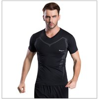 Wholesale New Arrival Men Compression Sports Tops Wicking Running Quick Dry T shirt Gym Fitness Short Sleeve