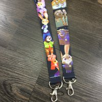 Wholesale Hot Cartoon Pattern Zootopia Popular Lanyards Neck Strap Camera ID Card Lanyard Mobile Phone Neck Straps ZD103