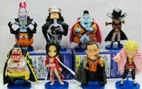 Wholesale 8pcs set new ONE PIECE PVC doll The Seven Warlords of the Sea Qi Wuhai Sir Crocodile Mihawk Donquixote Moria CM