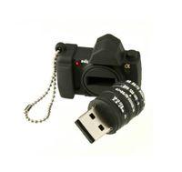 Wholesale Mini Silicone Camera Model Model USB Flash Drive XMAS Gift GB GB GB Pen U Stick Memory Full Capacity For PC GB GB GB