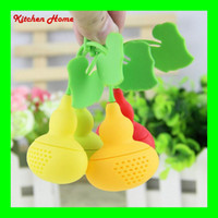 balls gourd - Gourd Design Silicone Tea Infuser Tea Filter Herb Spices Leaf Strainer Bag Silicone Rubber Kitchen Tea Ball Bags Coffee Tea Tools