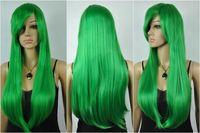 apples wigs - gt Halloween Hair Heat Resistant Apple Green Long Straight Cosplay Wig New