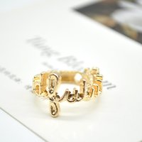 Wholesale Wedding Rhinestone Bow knot Knuckle Midi Mid Finger Ring Gold Plated Rings for Women Stacking Ring PSS0207W