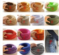 Wholesale m x0 mm Twisted Textile Electrical Wire Braided Wire Fabric Covered Vintage Electrical Power Cord Wire