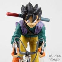 Wholesale Dragon Ball Saiyan Son Gokou Ride Bicycle Boxed PVC Action Figure Model Collection Toy Gift Dragonball Evolution Toys