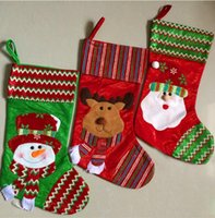 beautiful christmas stocking - Christmas decorations beautiful holiday ornaments Santa Claus socks elk snowman candy bags gift bags cartoon pair B3