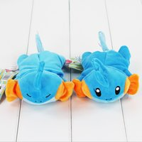 Wholesale Cute Anime Poke Mudkip Mouse Pad Plush Soft Stuffed Doll Toy Mouse Pad for girls gift styles