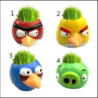 Wholesale Angry Birds Ceramic Pots Creative DIY Home Furnishings Home Garden Balcony Decoration hot selling Pot