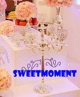 Wholesale 5 Head Crystal Centerpiece Candelabra for Wedding