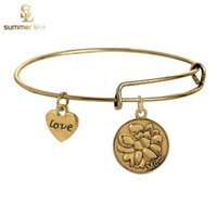 band like - 2016 Newest Alex and Ani Mother Like Flower Charm Statement Bracelets Silver Wiring Expandable Pendant Bangles Band Cuffs Christmas Gift