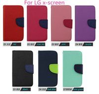 Cheap For LG For LG x-screen Best Leather Blue PU Leather