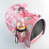 Wholesale New Arrival Foldable PVC Dog Cat Portable Carrier Bag Cartoon KT Cat Pattern Outdoor Travel Bag For Pets
