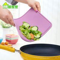 Wholesale Soft silicone cutting board cut fruit home kitchen cutting board rectangular cutting board fruit plate