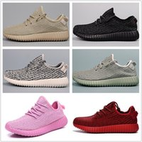 Cheap With Box Adidas Yeezy Boots 350 Men Women Running Shoes Yeezys Boost Cheap Breathable Classic Jogging Shoes Free Shipping Size 5-11.5