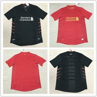 Wholesale New arrived Thai Quality Liverpooles black red adult Soccer Jerseys Football shirts maillot de foot