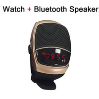 Wholesale B90 Smart Watch Sports Bluetooth Speaker Hands free Call TF Card Playing FM Radio Self timer Wireless Speakers Time Display