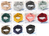 Wholesale Retro Wide Cross Hair Band Korean Style Knitted Cotton All match Headbands Multicolor