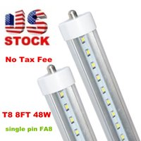 Wholesale Stock In US ft fa8 led tube Single Pin FT T8 Led Light Tubes LEDs SMD2835 Led Fluorescent Light W LM AC85 V