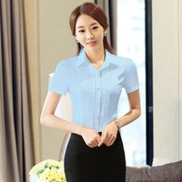 Lapel Neck animal print images - Mouse over image to zoom New womens short sleeve clothes OL shirt Formal slim blouses office tops New womens short sleeve clothes OL