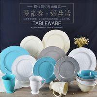 Wholesale Hotel restaurant use ceramic dinner set custom dinner set