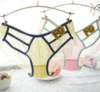 Wholesale Xueweihong teenage underwear girl briefs hollow transparent lace underwear for girls puberty Incognito
